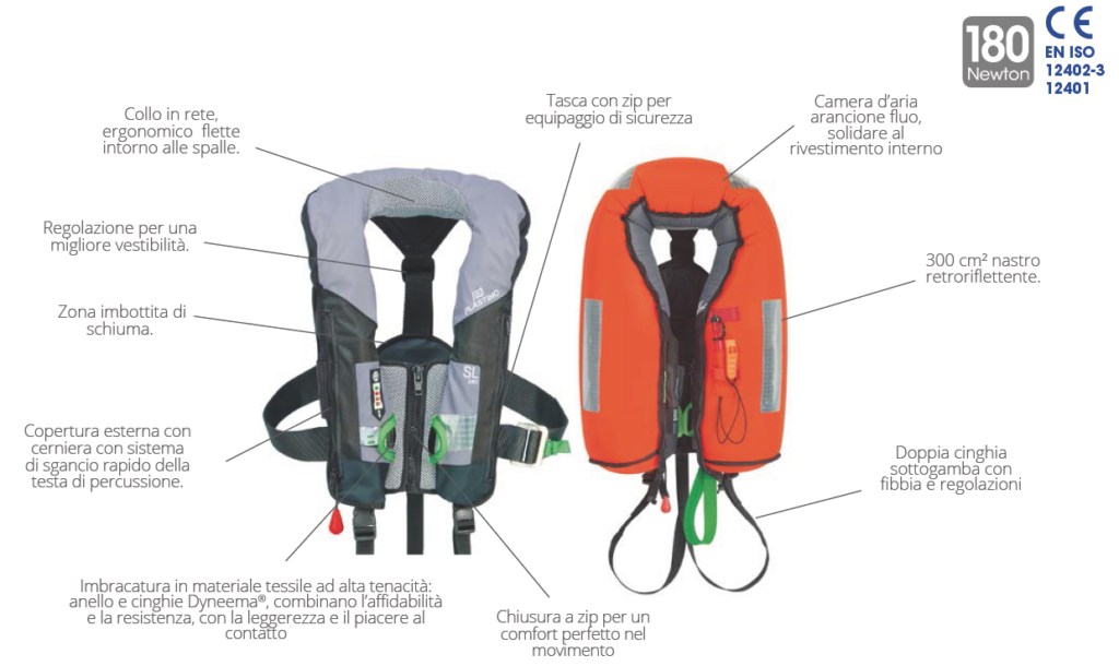 Plastimo sl 180 lifejacket